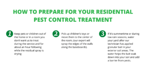 How to prepare for your residential pest control treatment from Gunter Pest & Lawn.