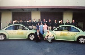 Gunter Pest & Lawn employees pictured in 2000.
