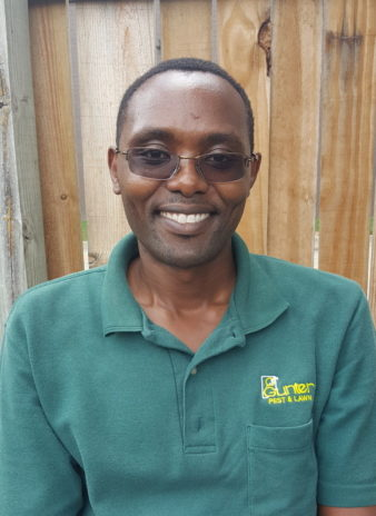 Benjamin Kuto is the newest member to the Gunter Pest & Lawn team.