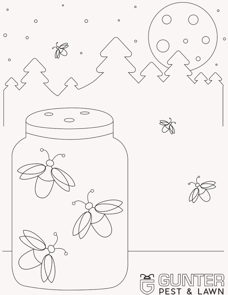 These Printable Coloring Book Pages for Kids really shine when it's lightning bugs.