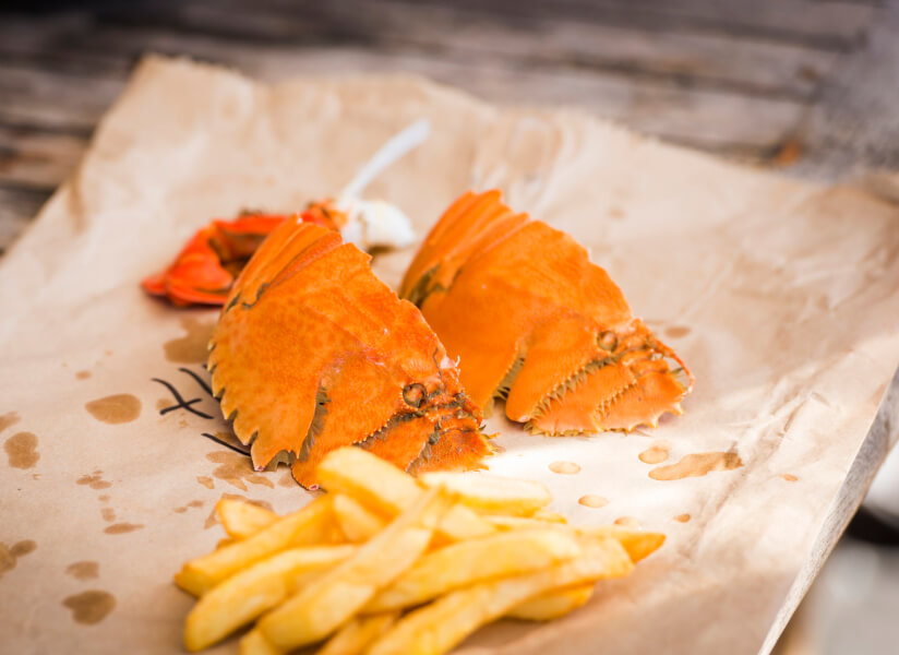 Gunter Pest & Lawn provides high-quality food service pest control so your fish and chips is bug free like this.