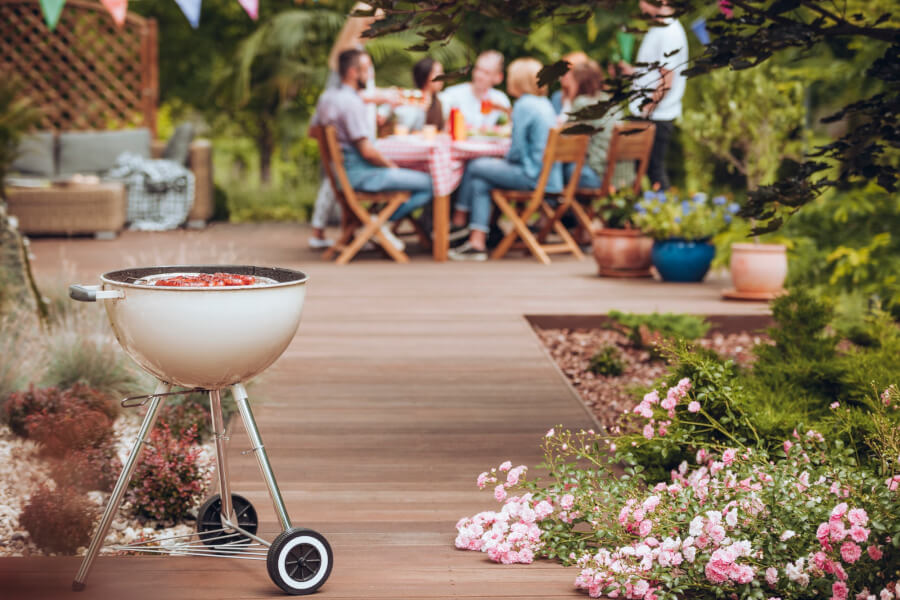 Use distractions to keep bugs in certain areas of your garden away from you and your grill.