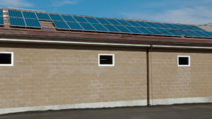 Solar panels on Gunter's garage