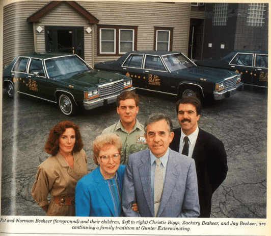 Old-School Gunter Pest & Lawn Family Picture. Grow Our Kansas City Pest Control Company.
